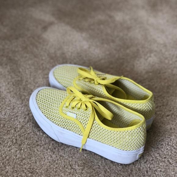 06d971ef3d36 Platform Vans SUMMER MESH YELLOW. M 5ba3c559aa87701fed0e975c. Other Shoes  ...